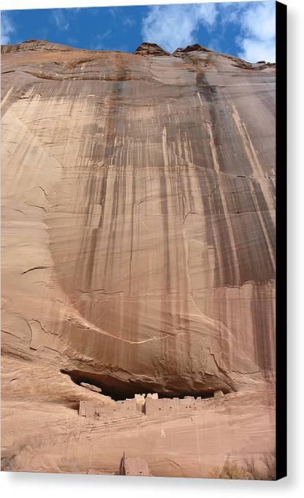 Desert Landscape Canvas Print featuring the photograph White House Ruins Canyon De Chelly Az by Bob Bennett