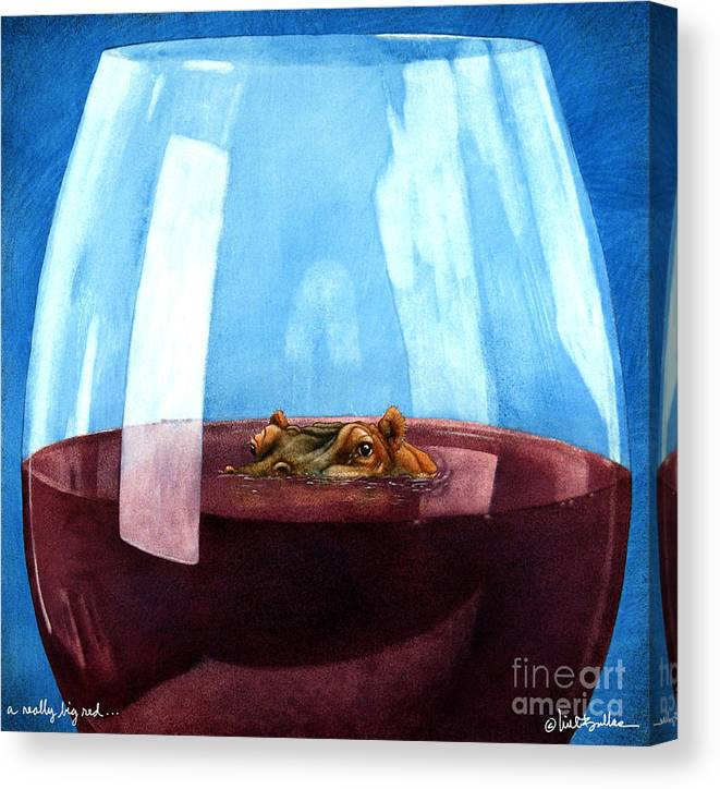 Will Bullas Canvas Print featuring the painting A Really Big Red... by Will Bullas