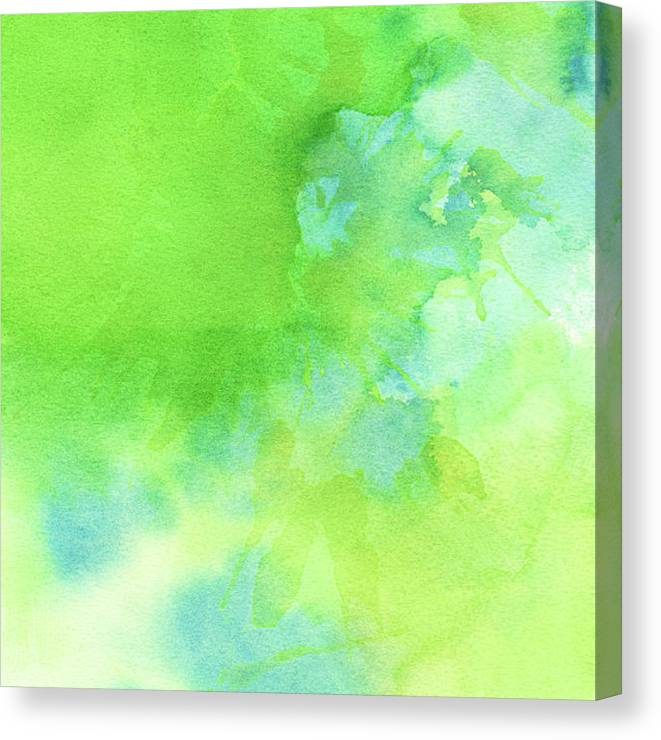 Art Canvas Print featuring the photograph Green Blue Background Abstract by Taice