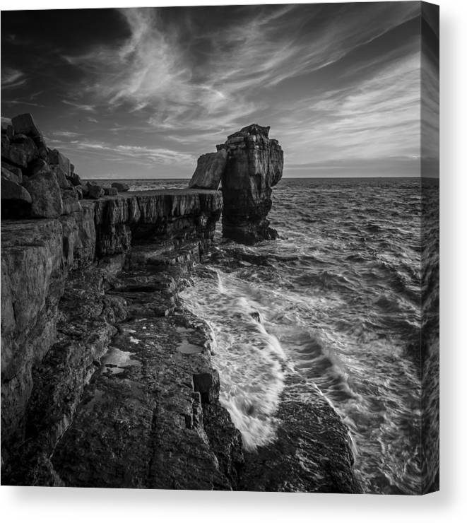 Dorset Canvas Print featuring the photograph Pulpit Rock by Andy Bitterer