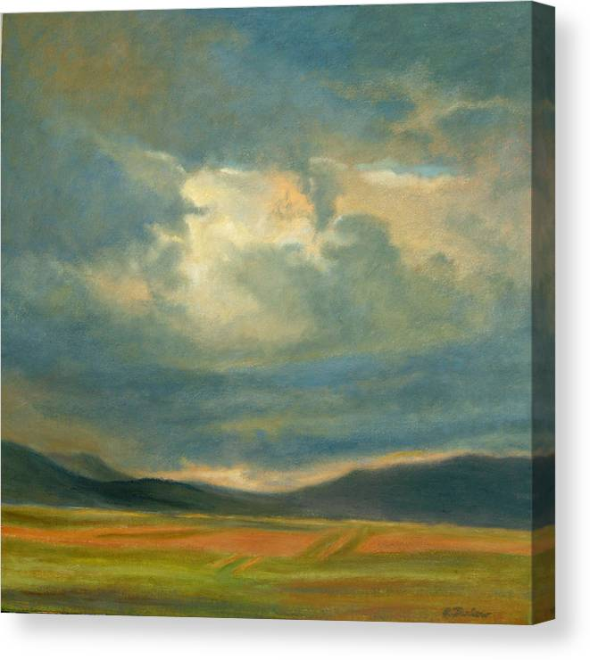 Southwest Canvas Print featuring the painting Emergence by Phyllis Tarlow