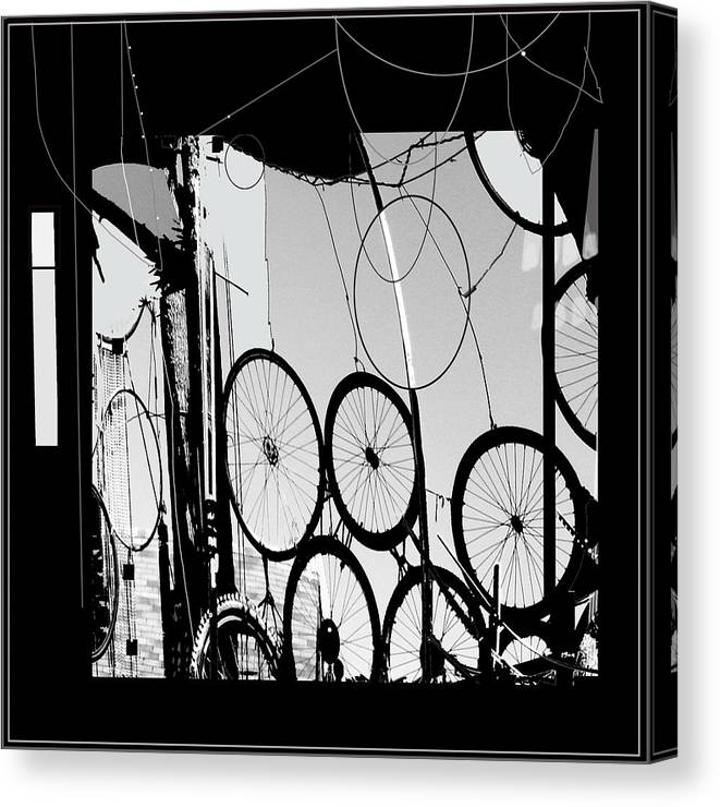 Abstract Canvas Print featuring the digital art Mechanistic by Dale Witherow