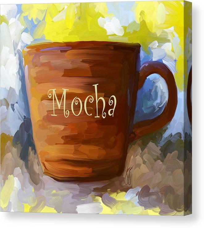 Original Art.Acrylic Painting on Canvas Original Wall art.Fabulous mug Painting Mug kitchen art canvas