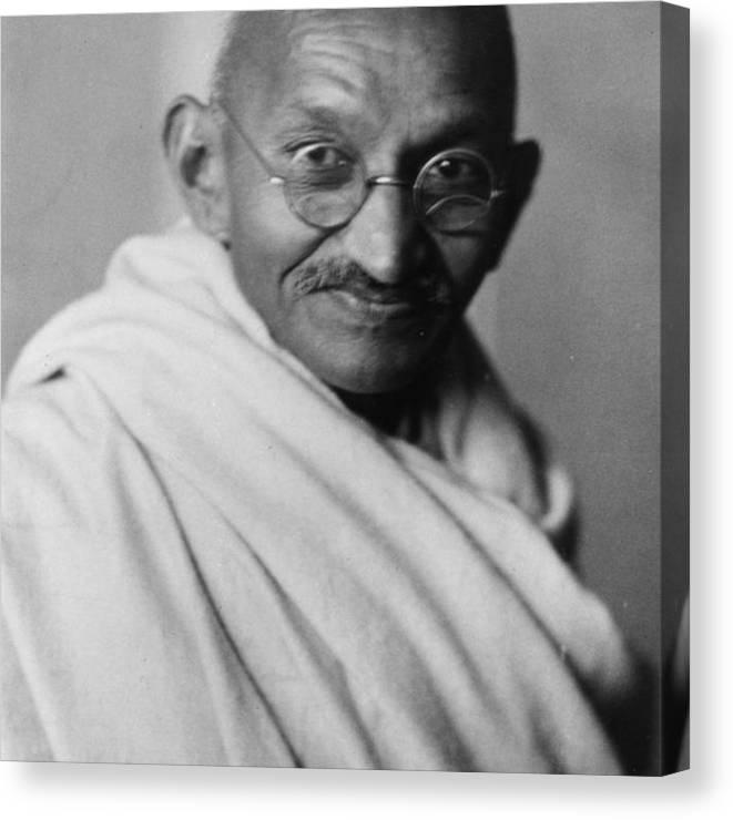 Mahatma Gandhi Canvas Print featuring the photograph Mahatma Gandhi by Elliott & Fry