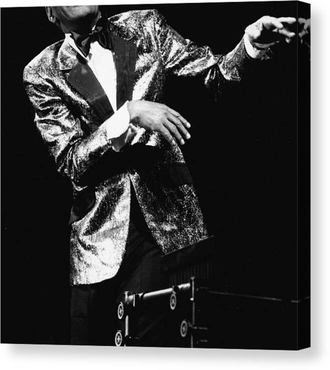 Singer Canvas Print featuring the photograph Ray Charles Dances On Stage by Hulton Archive