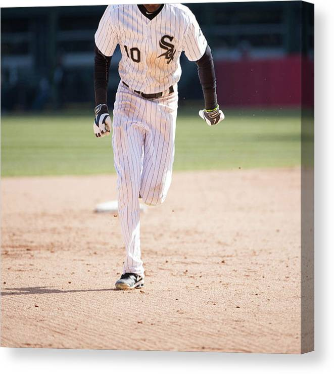 American League Baseball Canvas Print featuring the photograph Alexei Ramirez by Ron Vesely
