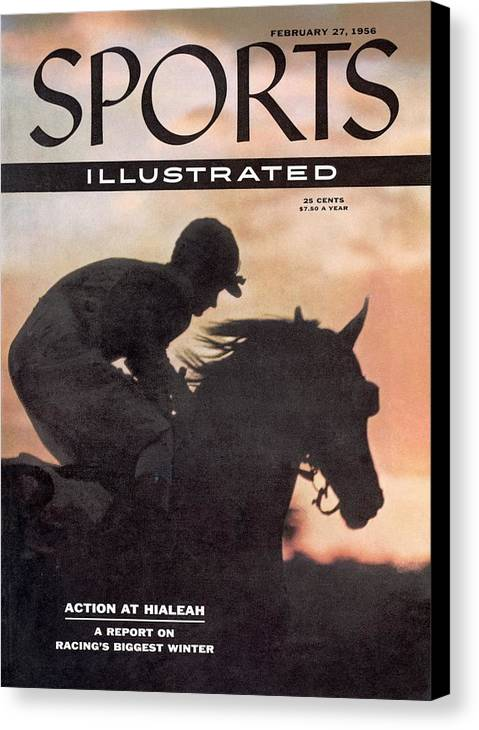 Horse Canvas Print featuring the photograph Activate, 1956 Flamingo Stakes Sports Illustrated Cover by Sports Illustrated