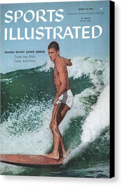 Magazine Cover Canvas Print featuring the photograph Australian Surfing Sports Illustrated Cover by Sports Illustrated