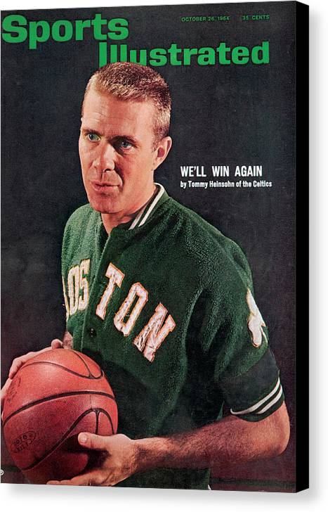 Magazine Cover Canvas Print featuring the photograph Boston Celtics Tommy Heinsohn Sports Illustrated Cover by Sports Illustrated
