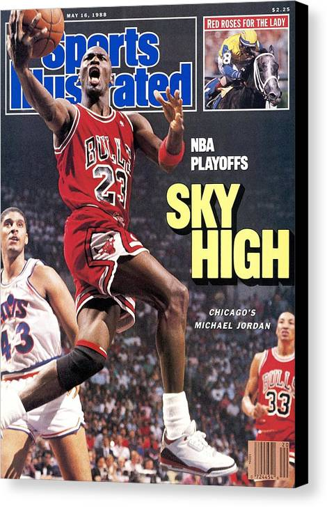 Playoffs Canvas Print featuring the photograph Chicago Bulls Michael Jordan, 1988 Nba Eastern Conference Sports Illustrated Cover by Sports Illustrated