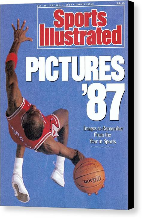 Magazine Cover Canvas Print featuring the photograph Chicago Bulls Michael Jordan Sports Illustrated Cover by Sports Illustrated