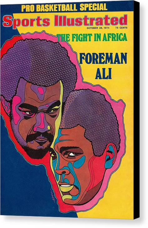 Heavyweight Canvas Print featuring the photograph Foreman And Ali, Fight In Africa Preview Sports Illustrated Cover by Sports Illustrated