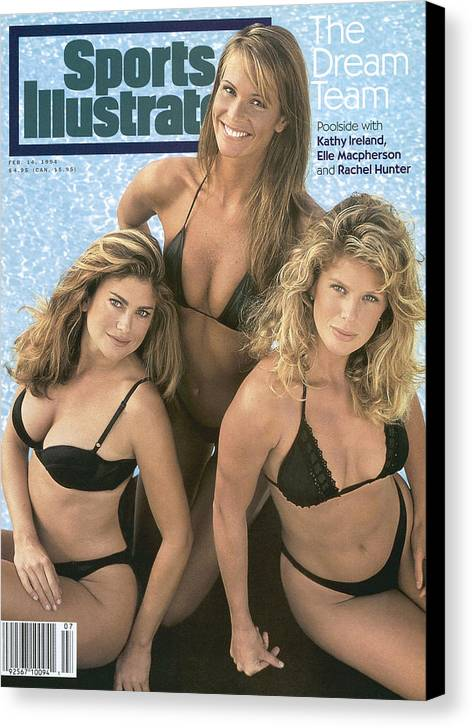 Kathy Ireland Elle Macpherson And Rachel Hunter Swimsuit Sports Illustrated Cover Canvas Print Canvas Art By Sports Illustrated