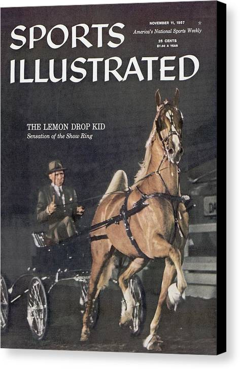 Horse Canvas Print featuring the photograph Lemon Drop Kid, 1957 Kentucky State Fair Horse Show Sports Illustrated Cover by Sports Illustrated