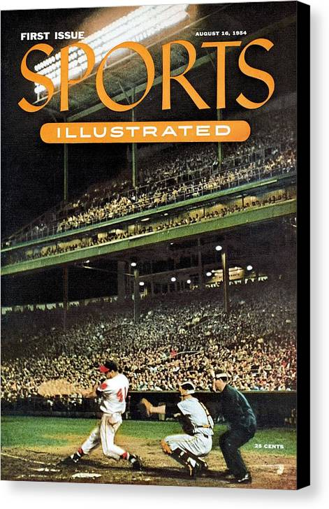 Magazine Cover Canvas Print featuring the photograph Milwaukee Braves Eddie Mathews... Sports Illustrated Cover by Sports Illustrated