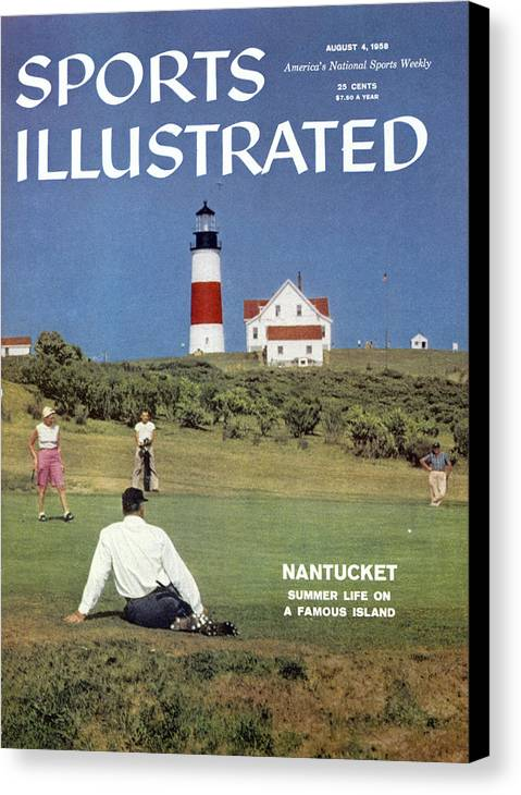 Magazine Cover Canvas Print featuring the photograph Nantucket Island Golf Sports Illustrated Cover by Sports Illustrated