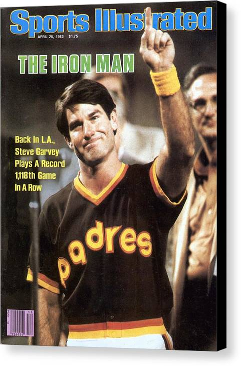 Magazine Cover Canvas Print featuring the photograph San Diego Padres Steve Garvey Sports Illustrated Cover by Sports Illustrated