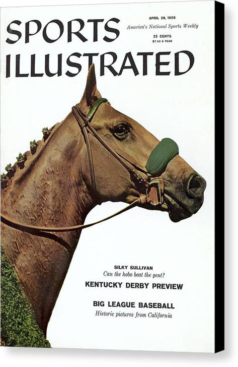 Horse Canvas Print featuring the photograph Silky Sullivan, Horse Racing Sports Illustrated Cover by Sports Illustrated