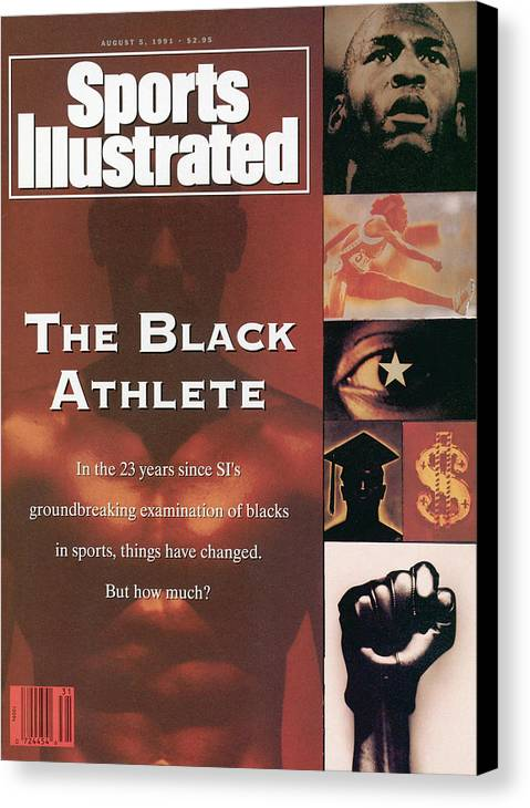 The Olympic Games Canvas Print featuring the photograph The Black Athlete In The 23 Years Since Sis Groundbreaking Sports Illustrated Cover by Sports Illustrated