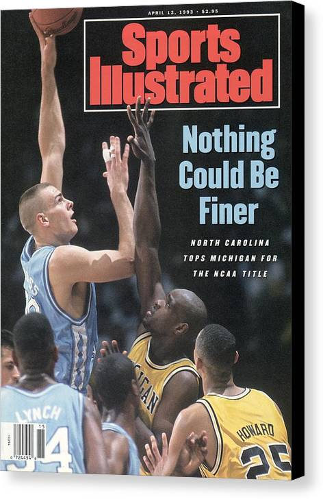 Louisiana Superdome Canvas Print featuring the photograph University Of North Carolina Eric Montross, 1993 Ncaa Sports Illustrated Cover by Sports Illustrated