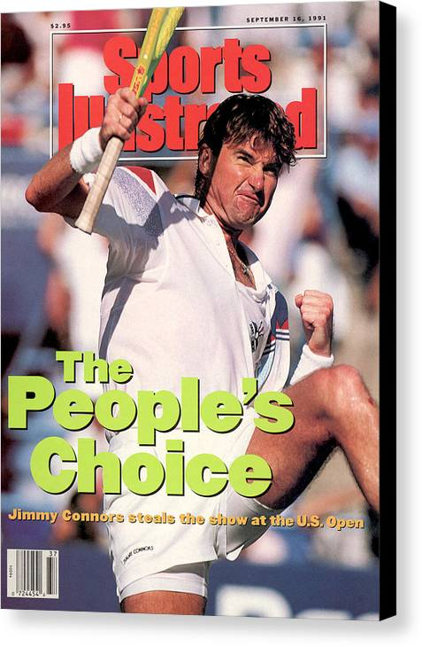 Tennis Canvas Print featuring the photograph Usa Jimmy Connors, 1991 Us Open Sports Illustrated Cover by Sports Illustrated