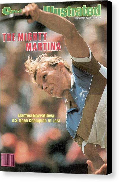 1980-1989 Canvas Print featuring the photograph Usa Martina Navratilova, 1983 Us Open Sports Illustrated Cover by Sports Illustrated