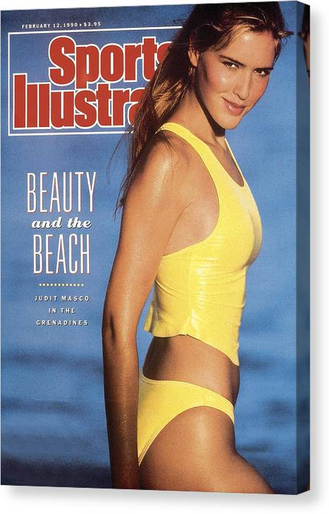 Judit Masco Swimsuit 1990 Sports Illustrated Cover Canvas Print