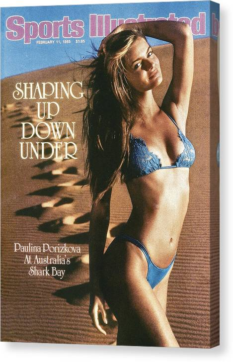 1980-1989 Canvas Print featuring the photograph Paulina Porizkova Swimsuit 1985 Sports Illustrated Cover by Sports Illustrated