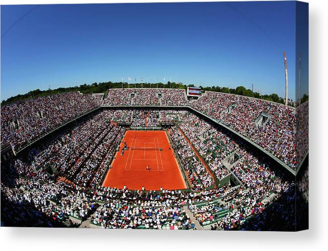 Tennis Canvas Print featuring the photograph 2015 French Open - Day Fourteen by Clive Brunskill