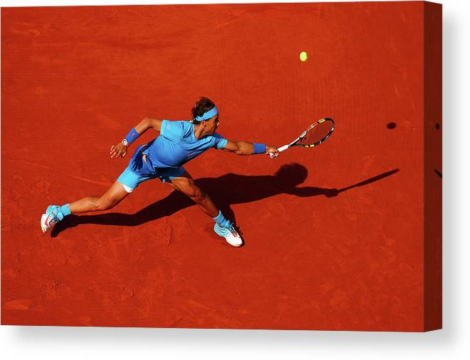 Rafael Nadal Canvas Print featuring the photograph 2015 French Open - Day Nine by Julian Finney