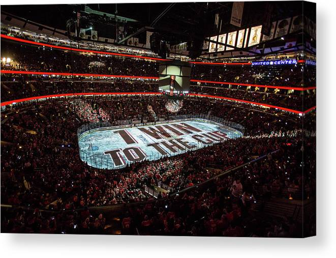 Playoffs Canvas Print featuring the photograph 2015 Nhl Stanley Cup Final - Game Six by Bill Smith