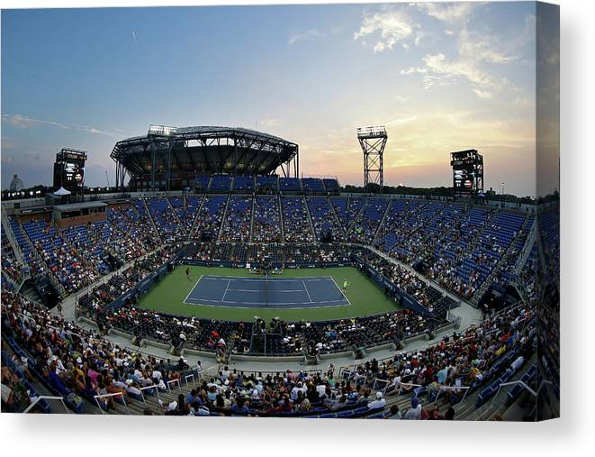 Tennis Canvas Print featuring the photograph 2015 U.s. Open - Day 1 by Streeter Lecka