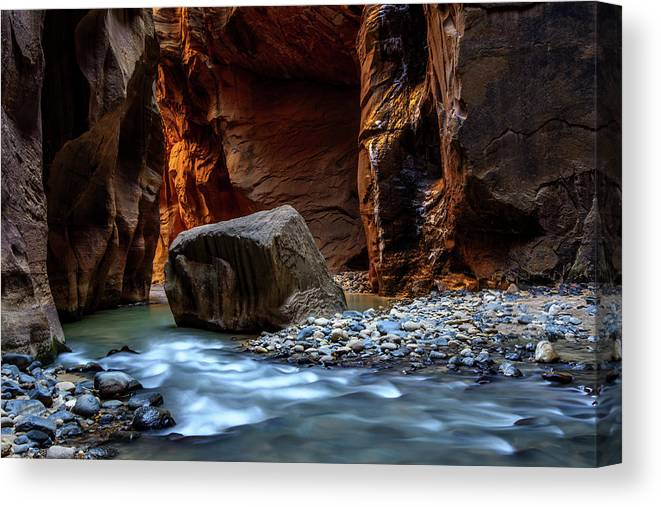 Scenics Canvas Print featuring the photograph Canyon by Piriya Photography