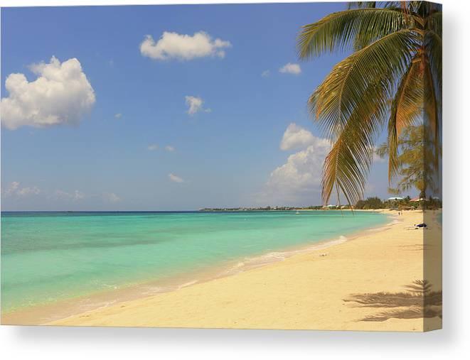 Scenics Canvas Print featuring the photograph Caribbean Dream Beach by Shunyufan