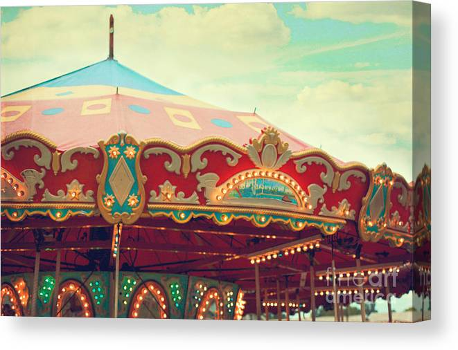 Carnival Canvas Print featuring the photograph Carousel by Kim Fearheiley
