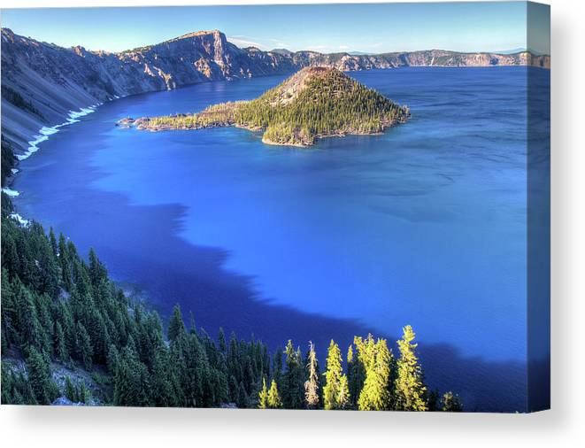 Crater Lake Canvas Print featuring the photograph Crater Lake, Oregon by Pierre Leclerc Photography