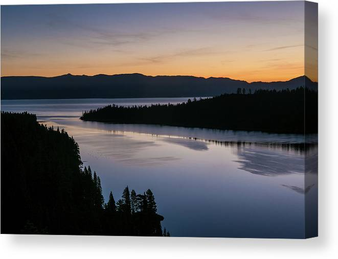 Scenics Canvas Print featuring the photograph Exploring Lake Tahoe by George Rose