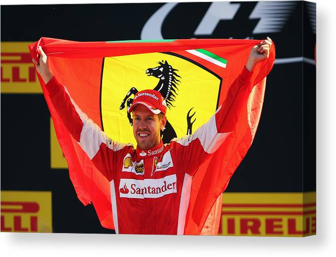 People Canvas Print featuring the photograph F1 Grand Prix of Italy by Bryn Lennon