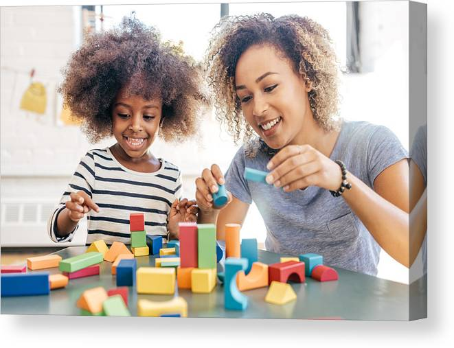 Toddler Canvas Print featuring the photograph Fun activities for 3 years old by Weekend Images Inc.
