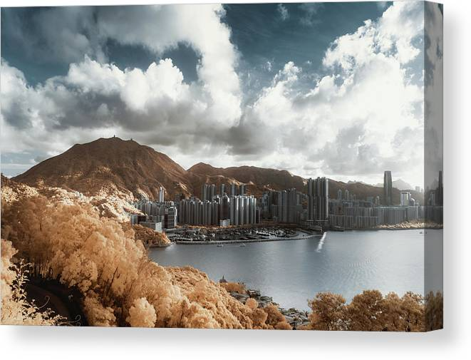 Tranquility Canvas Print featuring the photograph Hong Kong by D3sign