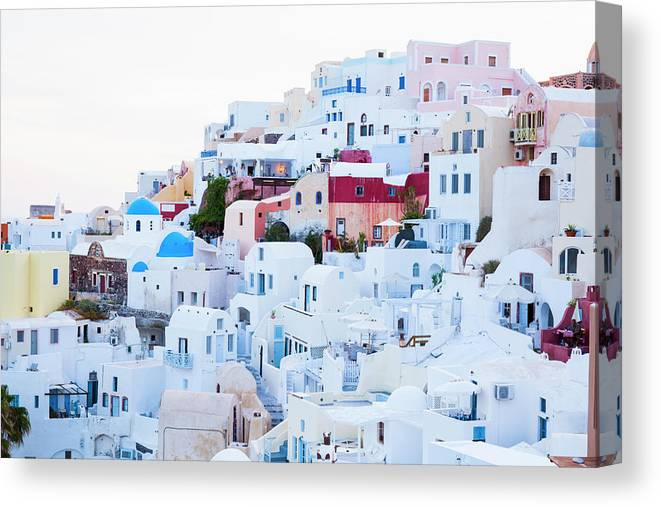 Tranquility Canvas Print featuring the photograph Oia by Jorg Greuel