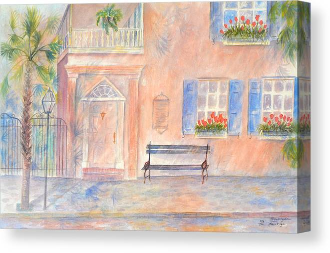 Charleston Canvas Print featuring the painting Sunday Morning in Charleston by Ben Kiger