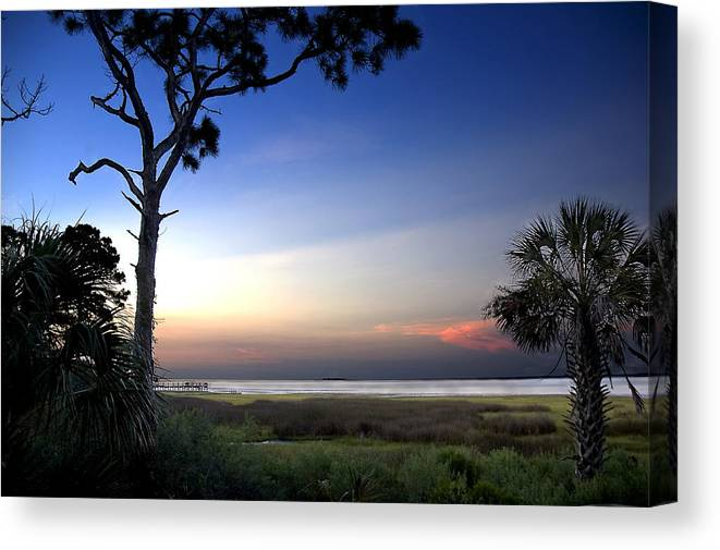 Sunset Canvas Print featuring the photograph Sunset Over St. Joe Bay 2 by Norman Johnson