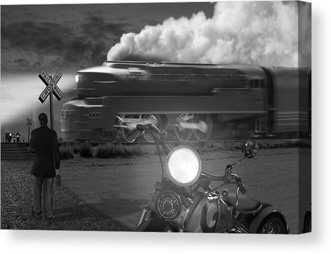 Transportation Canvas Print featuring the photograph The Wait by Mike McGlothlen