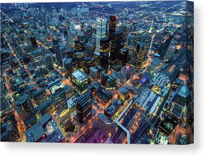 Toronto Canvas Print featuring the photograph Toronto by Naeem Jaffer