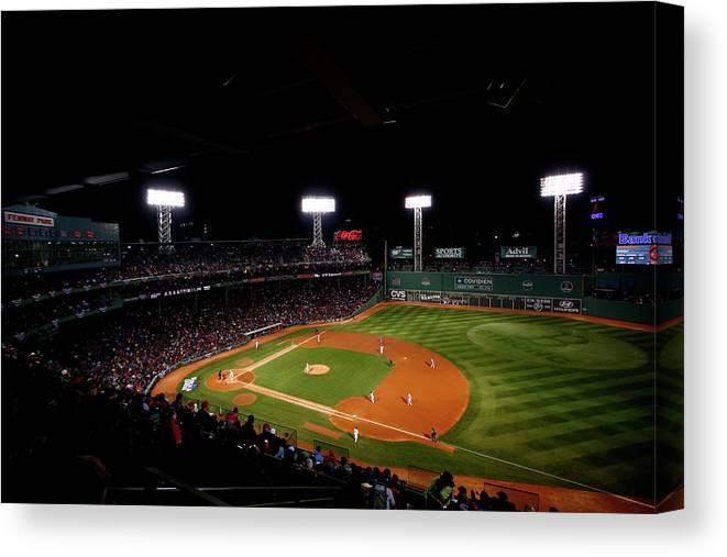 American League Baseball Canvas Print featuring the photograph World Series - St Louis Cardinals V by Jared Wickerham
