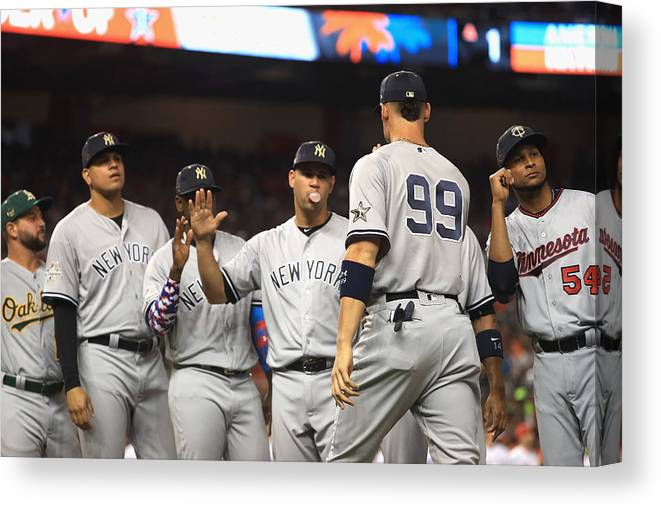 People Canvas Print featuring the photograph 88th MLB All-Star Game by Mike Ehrmann