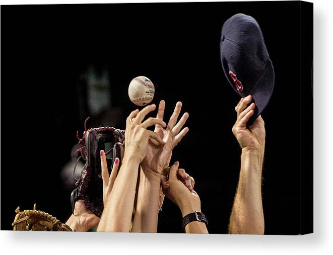 American League Baseball Canvas Print featuring the photograph Arizona Diamondbacks V Boston Red Sox by Billie Weiss/boston Red Sox