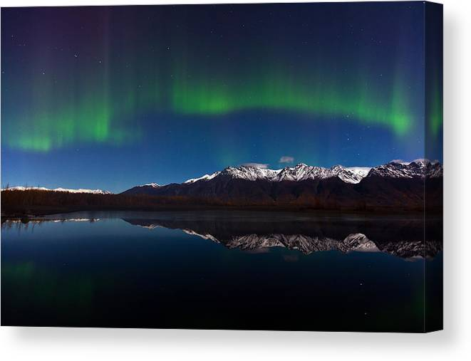 Canvas Print featuring the photograph Auroras by Richard Jack-James