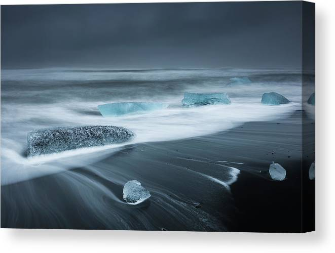 Water's Edge Canvas Print featuring the photograph Iceland by Jeremy Walker